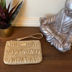 ✨Gold Textured Express Wristlet NWOT